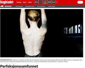 Debattinnlegg i Dagbladet om perfeksjonssamfunnet